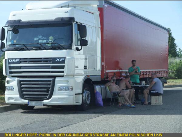 angeblich kein Problem mit dem LKW-Gegenverkehr