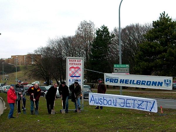 PRO Heilbronn beim symbolischen Spatenstich am 30.1.2009